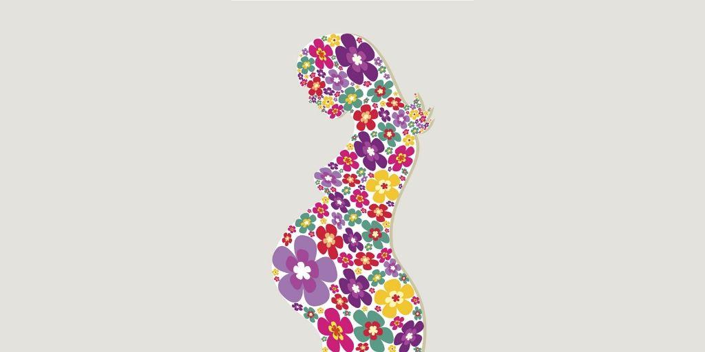 Femme en fleur qui symbolise la gestation pour autrui